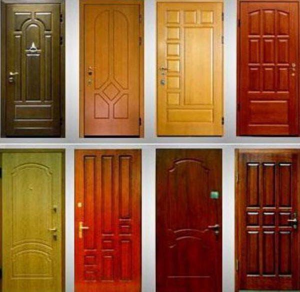 деревянная накладка на входную металлическую дверь