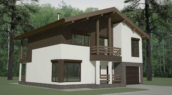 двухэтажный проект дома Люксовая эстетика