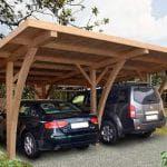 Как сделать навес для автомобиля из дерева