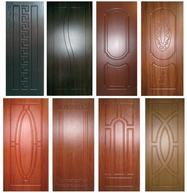 ламинированная накладка из МДФ на входную металлическую дверь