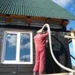 Как и чем снаружи утеплить деревянный дом
