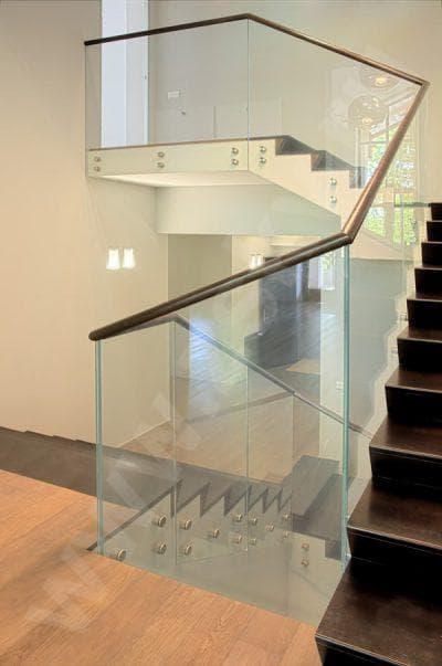 стеклянные ограждения для лестницы от Proline
