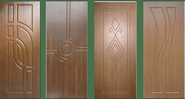 окрашенная накладка из МДФ на входную металлическую дверь