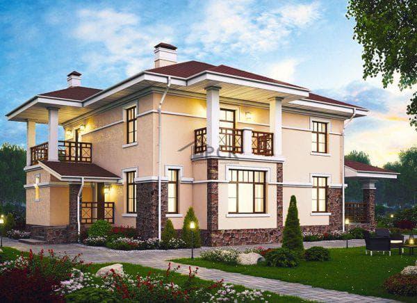 двухэтажный проект дома 100%-ая роскошь