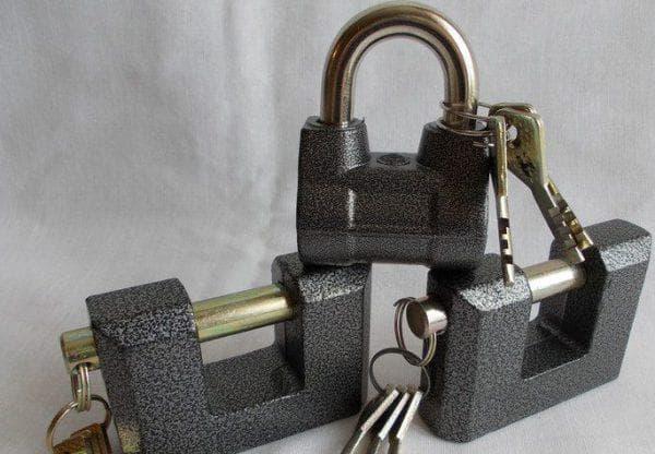 закрытый навесной замок для алюминиевых дверей