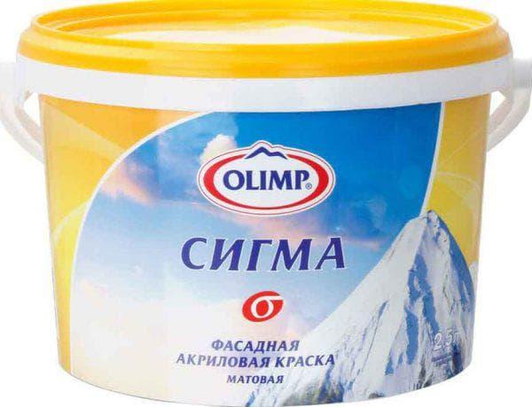 акриловая матовая краска Olimp