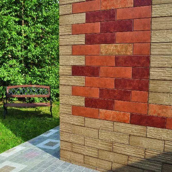 многогранная керамика для наружной отделки дома