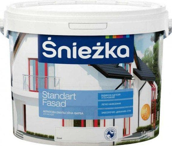 акриловая краска для дерева для наружных работ Sniezka