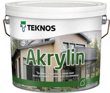акриловая краска для дерева для наружных работ Teknos