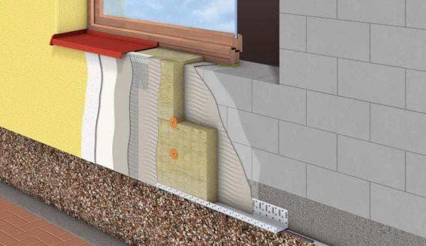 отделка мокрым фасадом дома из газобетонных блоков
